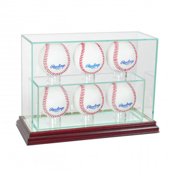 6 Upright Baseball Display Case