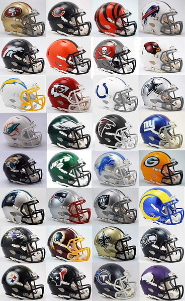 NFL Riddell Speed Authentic Full-Size Football Helmet - Set of 32