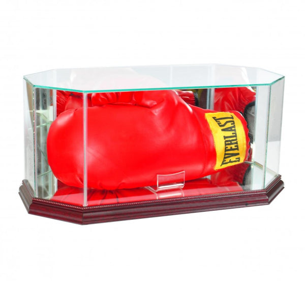Octagon Glass Full Size Boxing Glove Display Case