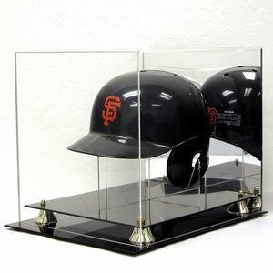 Deluxe Acrylic Full Size Baseball Batting Helmet display case w/stand