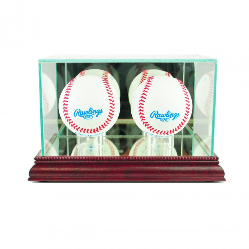 Double Baseball Display Case