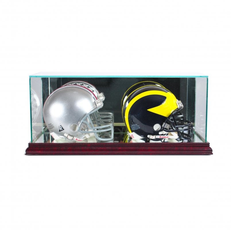Double Mini Football Helmet Display Case