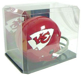 Full Size Football Helmet display case w/mirrored back