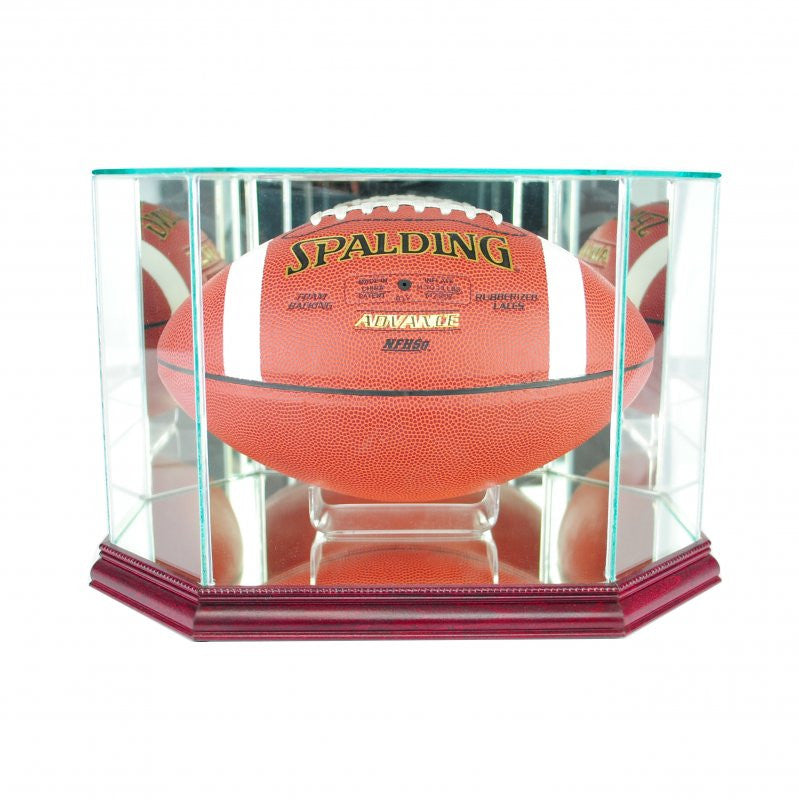 Octagon Football Display Case