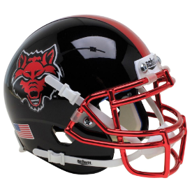 Arkansas State Red Wolves Schutt XP Authentic Mini Football Helmet Black with Chrome
