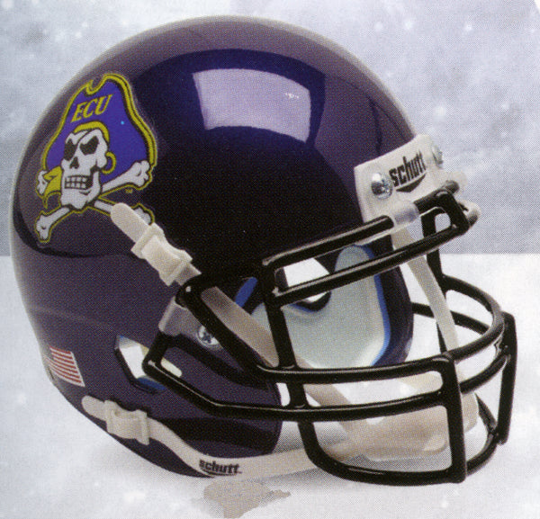 East Carolina Pirates Black Mask Schutt XP Authentic Mini Football Helmet
