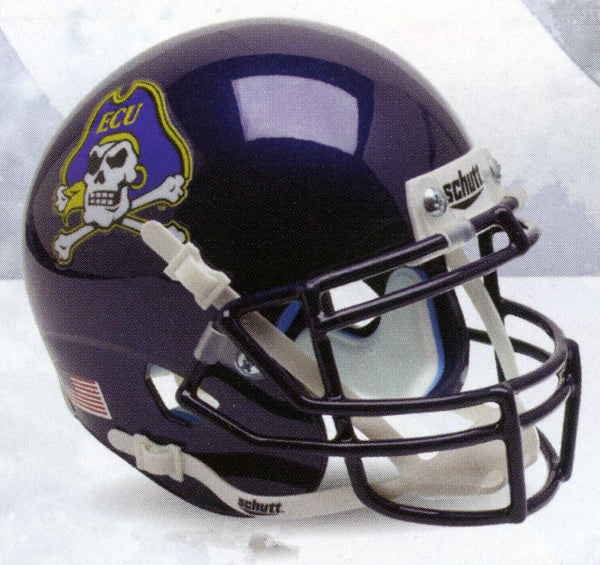 East Carolina Pirates Chrome Decal Schutt XP Authentic Mini Football Helmet