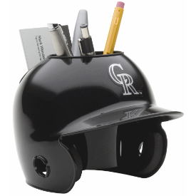 Colorado Rockies MLB Schutt Mini Baseball Desk Caddy