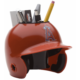 Los Angeles Angels MLB Schutt Mini Baseball Desk Caddy