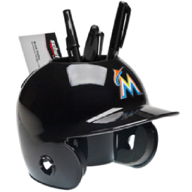 Miami Marlins MLB Schutt Mini Baseball Desk Caddy