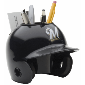 Milwaukee Brewers MLB Schutt Mini Baseball Desk Caddy