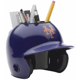 New York Mets MLB Schutt Mini Baseball Desk Caddy