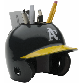 Oakland Athletics MLB Schutt Mini Baseball Desk Caddy