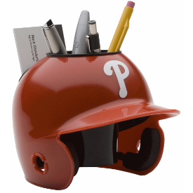 Philadelphia Phillies MLB Schutt Mini Baseball Desk Caddy