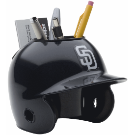 San Diego Padres MLB Schutt Mini Baseball Desk Caddy