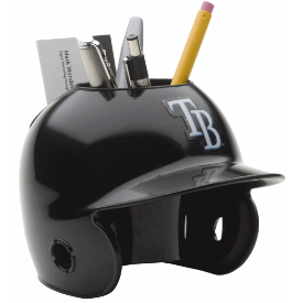 Tampa Bay Rays MLB Schutt Mini Baseball Desk Caddy