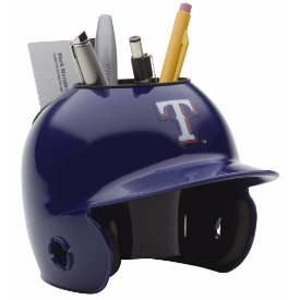 Texas Rangers MLB Schutt Mini Baseball Desk Caddy