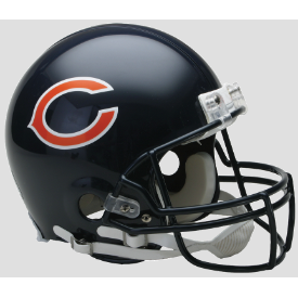 Chicago Bears Riddell VSR-4 Authentic Full Size Football Helmet