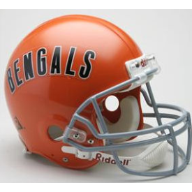 Cincinnati Bengals Riddell VSR-4 Throwback 68-79 Authentic Full Size Football Helmet