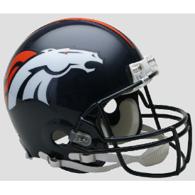 Denver Broncos Riddell VSR-4 Authentic Full Size Football Helmet