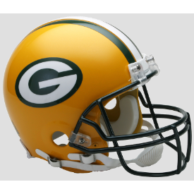 Green Bay Packers Riddell VSR-4 Authentic Full Size Football Helmet