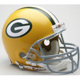 Green Bay Packers Riddell VSR-4 Throwback 61-79 Authentic Full Size Football Helmet