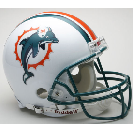 Miami Dolphins Riddell VSR-4 Throwback 97-12 Authentic Full Size Football Helmet