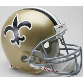 New Orleans Saints Riddell VSR-4 Throwback 67-75 Authentic Full Size Football Helmet