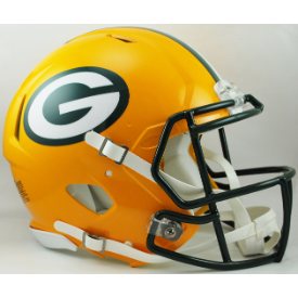 Green Bay Packers Riddell Speed Authentic Full Size Football Helmet
