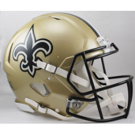 New Orleans Saints Riddell Speed Authentic Full Size Football Helmet