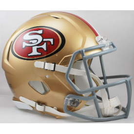 San Francisco 49ers Riddell Speed Authentic Full Size Football Helmet