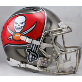 Tampa Bay Buccaneers Riddell Speed Authentic Full Size Football Helmet