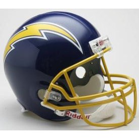 San Diego Chargers Riddell VSR-4 Throwback 74-87 Authentic Full Size Football Helmet