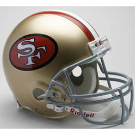 San Francisco 49ers Riddell VSR-4 Throwback 64-95 Authentic Full Size Football Helmet