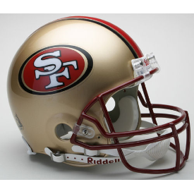 San Francisco 49ers Riddell VSR-4 Throwback 96-08 Authentic Full Size Football Helmet