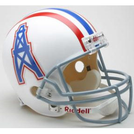 Houston Oilers Riddell VSR-4 Throwback 75-80 Replica Full Size Football Helmet