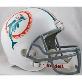 Miami Dolphins Riddell VSR-4 Throwback 1972 Replica Full Size Football Helmet