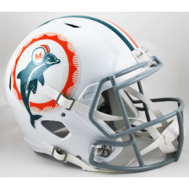 Miami Dolphins 66 Anniversary Riddell Speed Replica Full Size Football Helmet