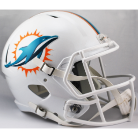 Miami Dolphins Riddell Speed Replica Full Size Football Helmet