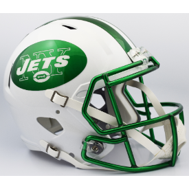 New York Jets Chrome Mask Riddell Speed Replica Full Size Football Helmet