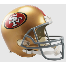 San Francisco 49ers Riddell VSR-4 Replica Full Size Football Helmet