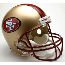 San Francisco 49ers Riddell VSR-4 Throwback 96-08 Replica Full Size Football Helmet