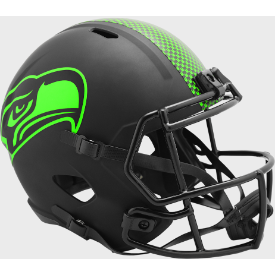 Seattle Seahawks Riddell Speed ECLIPSE Replica Full Size Football Helmet