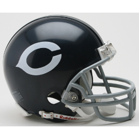 Chicago Bears Riddell VSR-4 Throwback 60-73 Mini Football Helmet