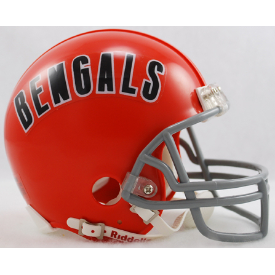 Cincinnati Bengals Riddell VSR-4 Throwback 68-79 Mini Football Helmet