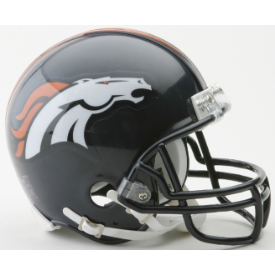 Denver Broncos Riddell VSR-4 Mini Football Helmet