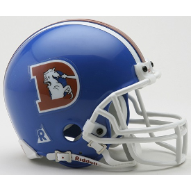 Denver Broncos Riddell VSR-4 Throwback 75-96 Mini Football Helmet