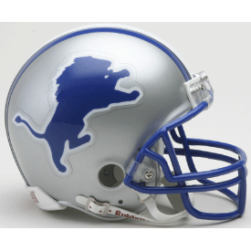 Detroit Lions Riddell VSR-4 Throwback 83-92 Mini Football Helmet