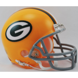 Green Bay Packers Riddell VSR-4 Throwback 61-79 Mini Football Helmet