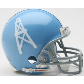 Houston Oilers Riddell VSR-4 Throwback 60-62 Mini Football Helmet